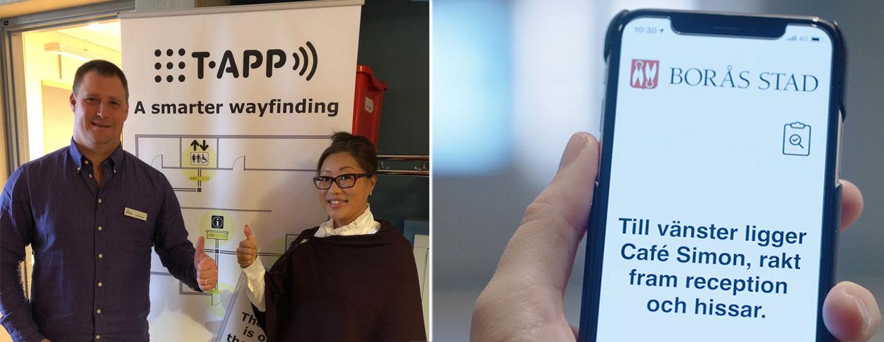 Tactile Flooring och appen presenteras av Per bergström och Anette Andersson på Certec, Lunds Univerisitet.