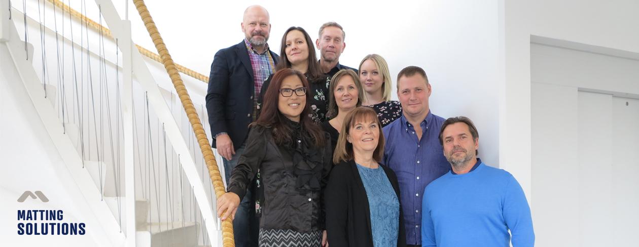 Gruppbild av oss på Matting Solutions