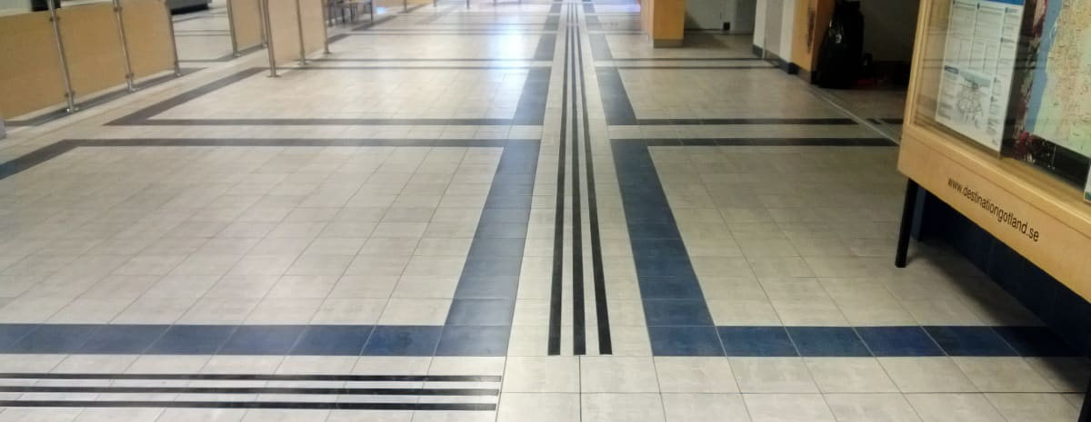 Tactile Flooring ledstråk aluminium 2 mm