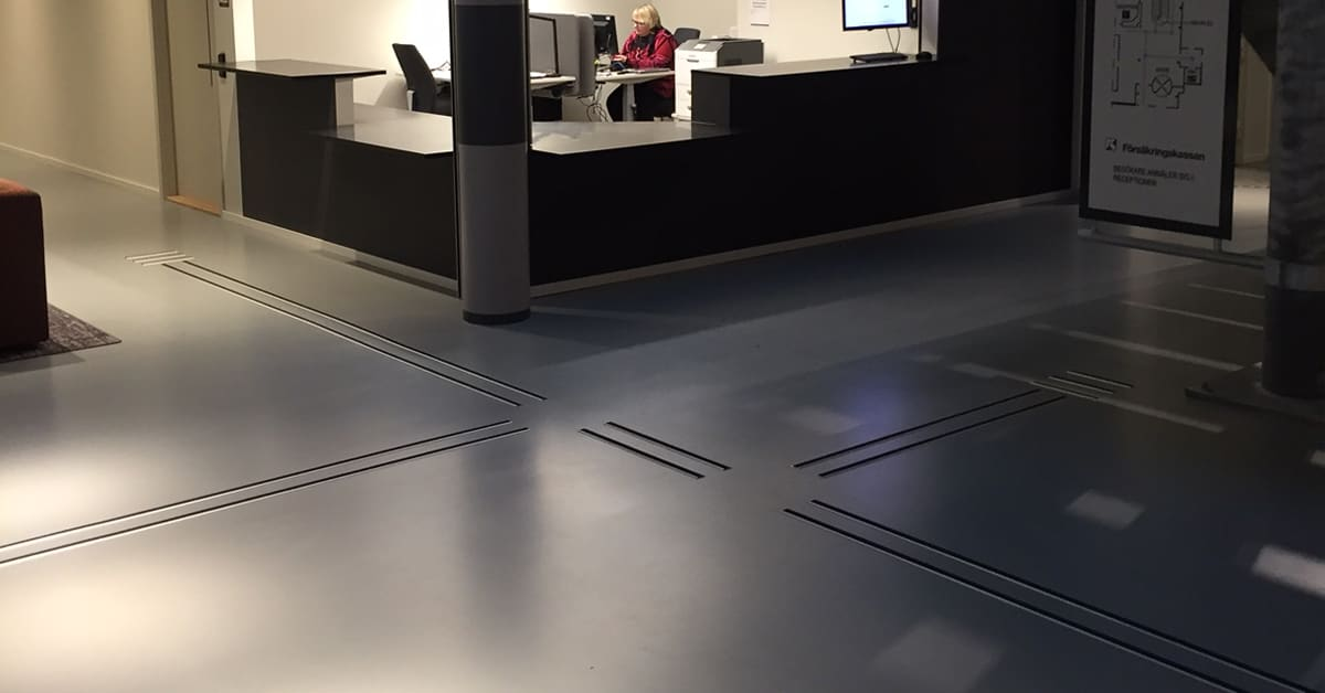 Tactile Flooring Referens Ubåtshallen Malmö