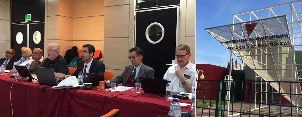 Deltagare på mötet i mötesrum + bild på entrén.