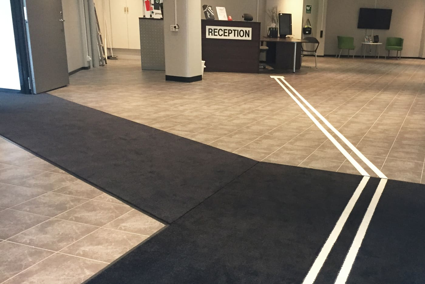Products tactile flooring tactile flooring entrance matting with visualcoloured guidance systems dailygadgetfo Choice Image